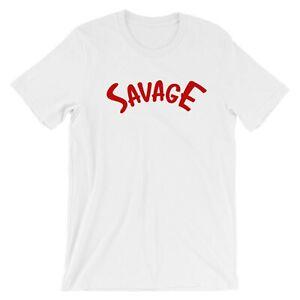 Savage Camiseta Camiseta Elegante Bujía Trinquete eslogan Damas Hipster de Moda Tik Tok
