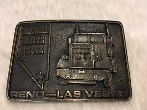 Freightliner Las Vegas >> Details About Vintage Nevada White Truck Freightliner Belt Buckle Reno Las Vegas