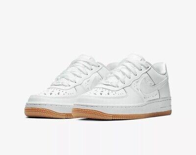 Nike Air Force 1 Blumen (Gs Youth aq7740 100 Weiß Leder UK 6 EU 3 US 6.5y NEU | eBay