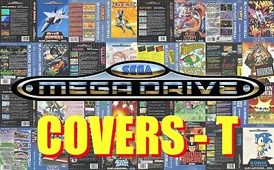 Ambitious Sega Mega Drive Remplacement Box Art Case Insert Cover - Letter T - High Quality