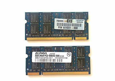 4GB 2x 2GB Kit HP Compaq 6710b 6715b 6715s 6735s 6820s 6830s 6910p DDR2 Memory