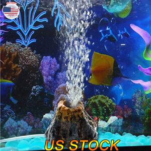 Aquarium Ornament Volcano Shape Ornament Air Bubble Stone Fish Tank Oxygen Pump