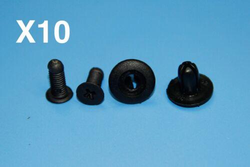 JAGUAR Intérieur Noir côté du panneau jupe Rivet fender liner fastener trim clips