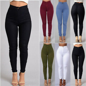 1d49bdb3f2 Image is loading 2019-Women-Pencil-Jeans-Stretch-Denim-Skinny-Pants-