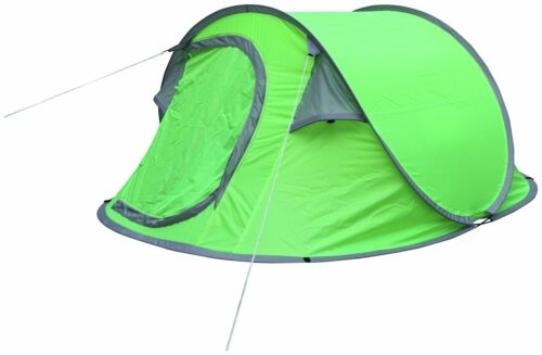 Green 2 Man Pop Up Dome Camping Tent
