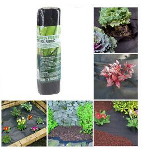 1 M X 5 M Mauvaises Herbes Tissu Membrane Couvre-sol Feuille Jardin Paysage-afficher Le Titre D'origine