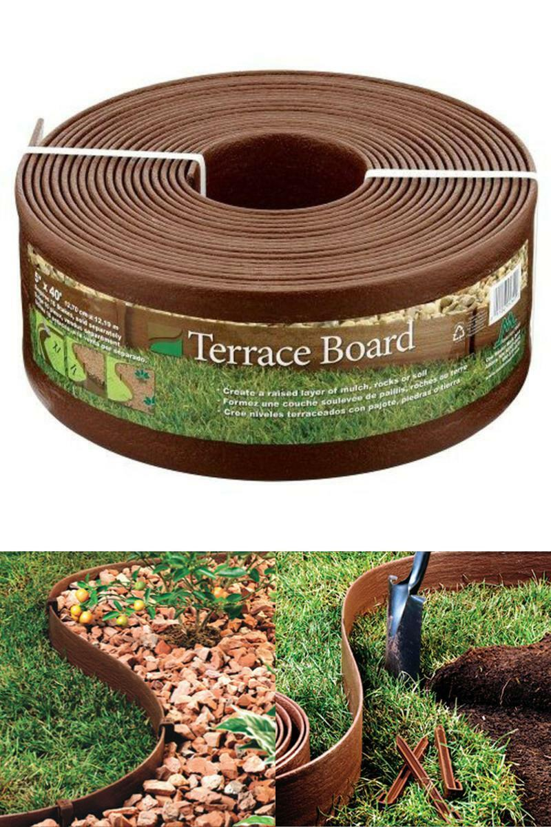 Landscaping Supplies 5 In X 40 Ft Brown Bender Board Lawn Edging With 2 Packs Of Stakes For Sale Online Ebay