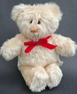 Artist Teddy Bear Champagne Plush 13in Highvale Bears Ontario Canada Glass Eyes