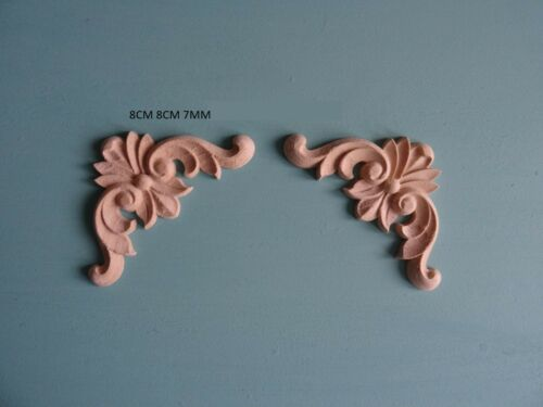Decorative wooden scroll corners x 2 onlay applique furniture moulding WK28