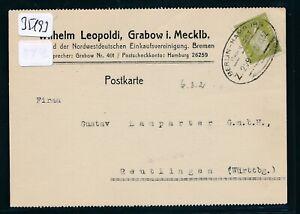 2019 DernièRe Conception 35193) Bahnpost Ovalstempel Berlin-hambourg Z.209, Fa. - Kte. Grabow 1932-afficher Le Titre D'origine La Qualité D'Abord