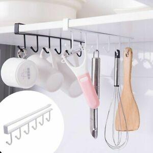 Organizer Paper Hanger Storage Shelf Cabinet Towel Rack Cup Holder Under Kitchen