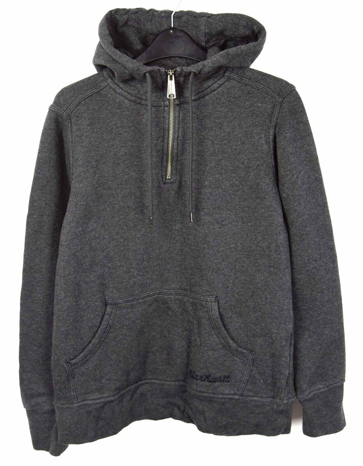 Carhartt Damen S Kapuzenpullover Pullover Sweatshirt Grau Reißverschluss RA25h