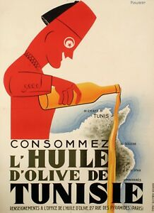 Original-Vintage-Poster-Jean-Piaubert-Olive-oil-from-Tunisia-1925