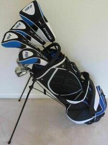 NEW-Tall-Mens-Golf-Clubs-Set-1-034-Driver-Woods-Hybrid-Irons-Putter-Bag-Stiff