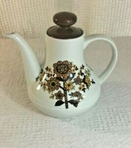 Retro-Vintage-Alfred-Meakin-Tea-Pot-039-Flower-039-Design-Glo-White-Range-60-039-s-70s