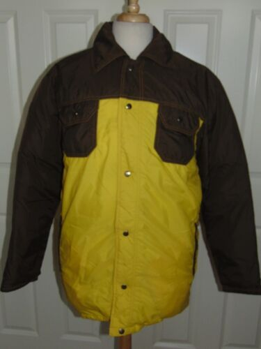 Vintage Down Fill Country USA  Zip  Coat Jacket Ye