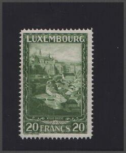 Luxembourg Lussemburgo, 1931 20 Franchi ville basse