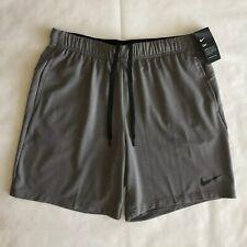 """Nike Dri-FIT Men/'s 8/"""" Black//Metal Hematite Training Shorts 889401-010 M//L//XL//X"""