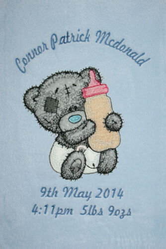 Me To You Baby /& Bottle Tatty Bear Personalised Super Soft Fleece Baby Blanket