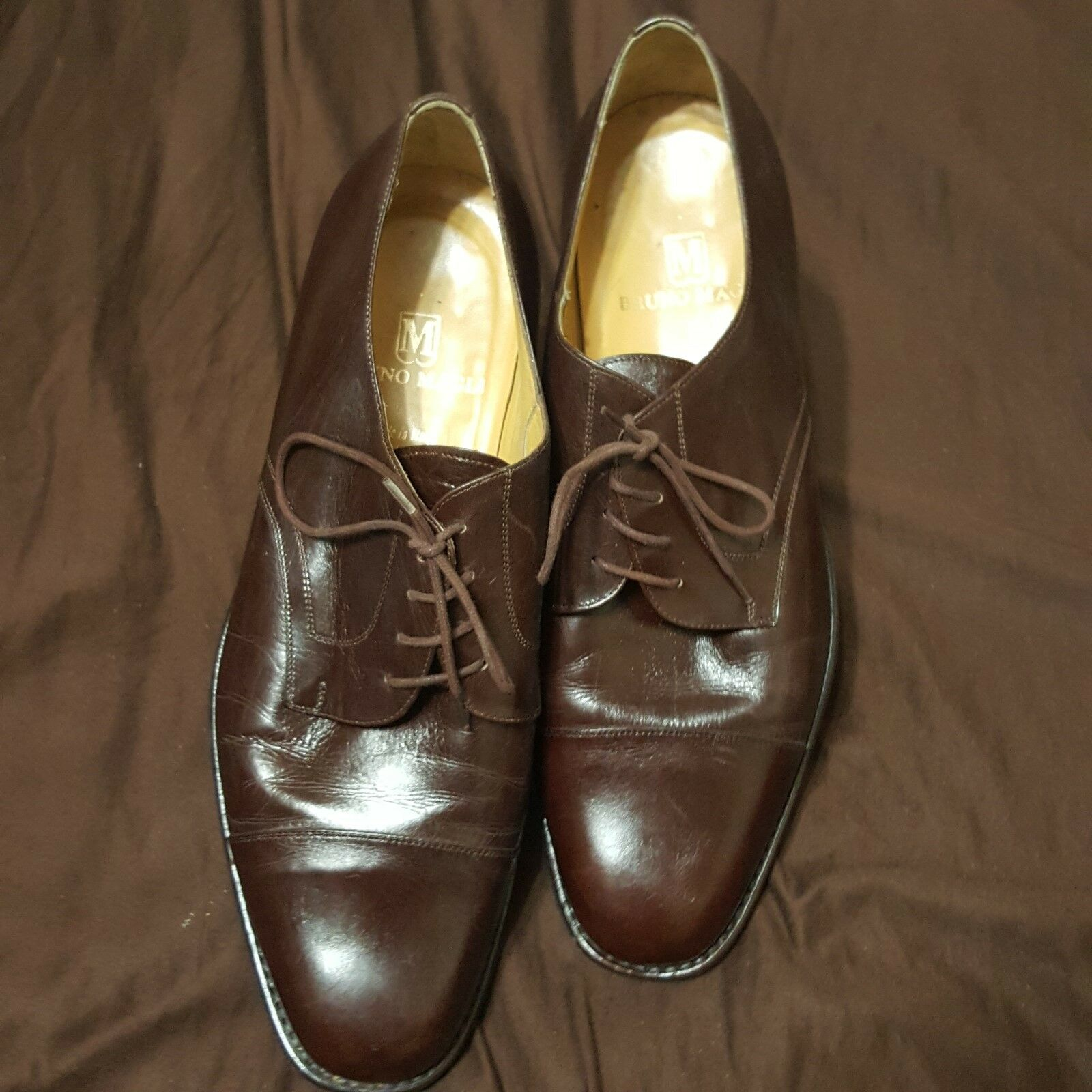 BRUNO MAGLI  Made In  Dark Brown Oxford ,Leather Shell, Sole,Lining   12 M