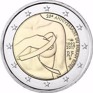 Frankreich 2 Euro Münze Kampf Gegen Den Brustkrebs 2017 Gedenkmünze