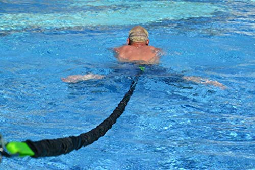 CROCE corpo Premium Nuoto Resistenza Cintura   Guinzaglio per la formazione stazionario