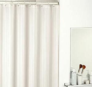 Satin Stripe Shower Curtain In Ivory Or White