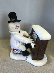 2005-Hallmark-Jingle-Pals-Piano-Snowman-Musical-Lights-Decoration-Please-Read