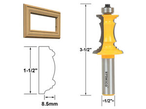 """1-1/2"""" Miter Frame Molding Router Bit - 1/2"""" Shank - Yonico 16165"""