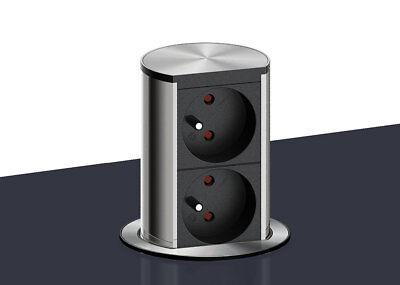 Versenkbare Arbeitsplatten Steckdose - 2 fach - Küchensteckdose zum  einlassen | eBay