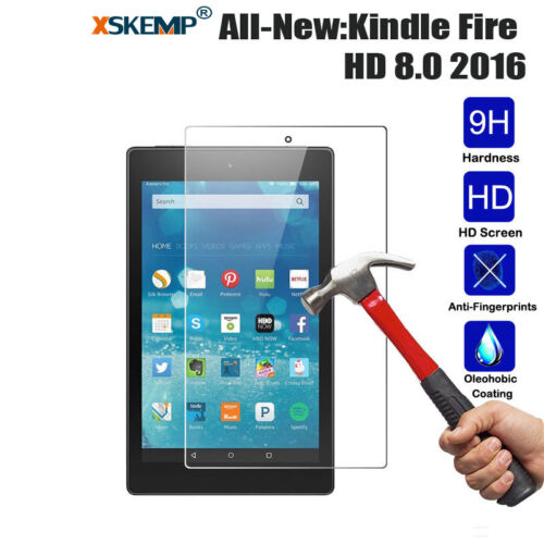 Thin Tempered Glass Screen Protector For Amazon Kindle fire HD 7/'/' 8/'/' 10/'/' 2017