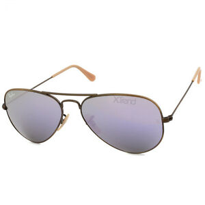 6175179e4f70 Ray Ban RB3025 167 4K Aviator Flash Bronze Copper Lilac Mirror ...