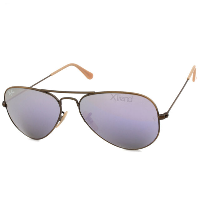 643d989213a Ray Ban RB3025 167 4K Aviator Flash Bronze Copper Lilac Mirror Sunglasses  55 58