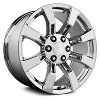 22 Gmc Denali Oe Style Wheels Chrome Rims Sierra Yukon Silverado Tahoe 24 26