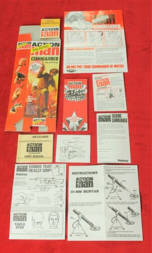 Action Man 40th Boîte paperasse et manuel Talking Commander avec préhension Mains