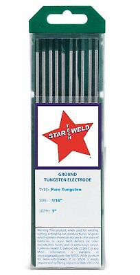 "Tig Welding Tungsten Electrode Pure 1/16"" New P16-7 Pkg/10 green"