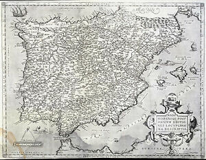 Details about Spain and Portugal la Península Ibérica 1500s Ortelius on aztlan map, constantinople map, rias baixas map, mallard lake charlotte nc map, delaware old grounds fishing map, oceano atlantico spain map, castile spain map, spain's agricultural map, the movie el norte map, moors invade spain map, catalonia map,