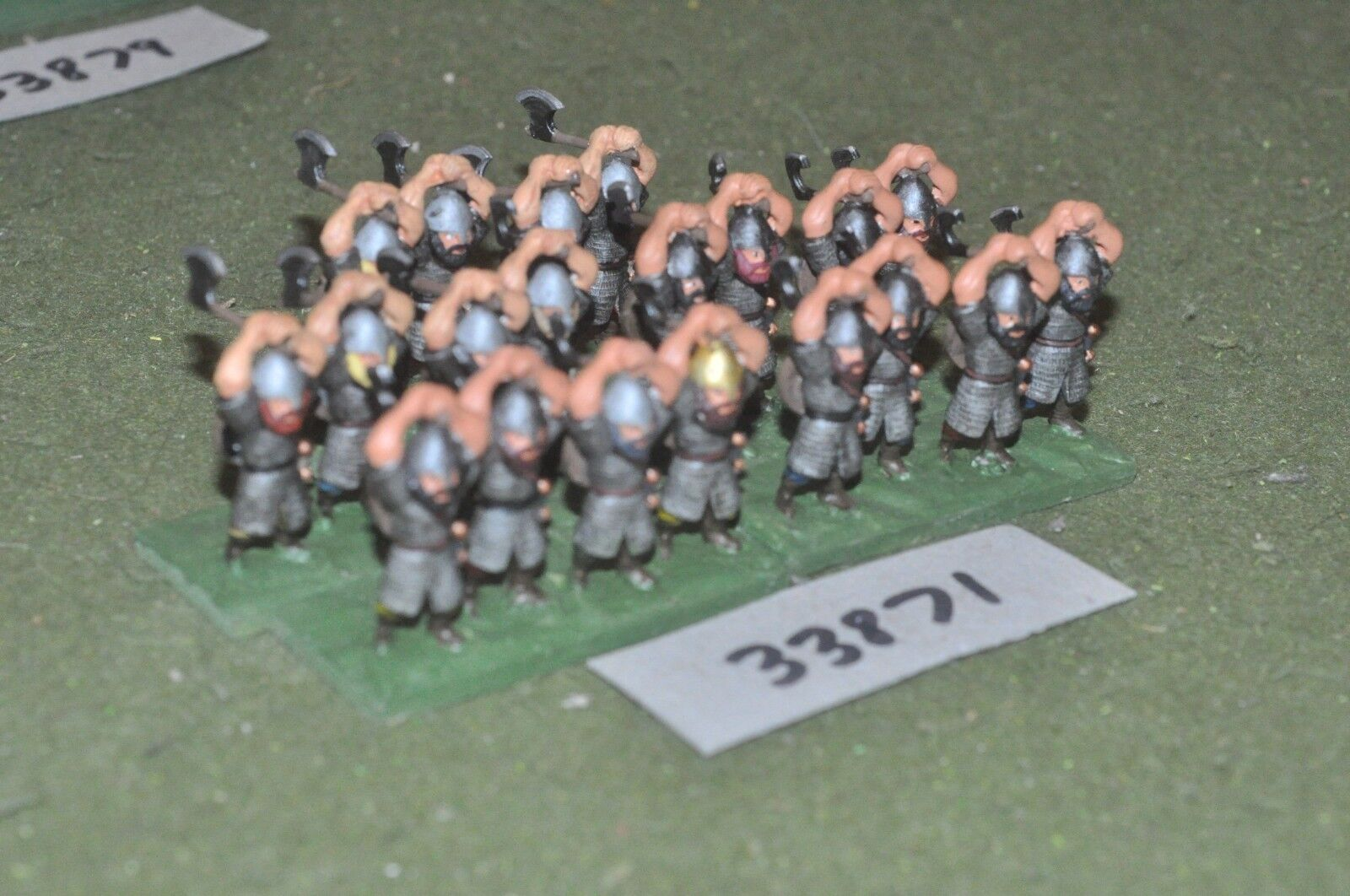 25mm dark ages   anglo saxon - huscarls 20 figures - inf (33871)