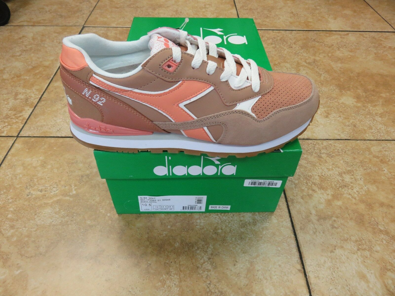 DIADORA N-92 WNT DUSTY CORAL MEN SHOES NEW RELEASES ALL SIZES