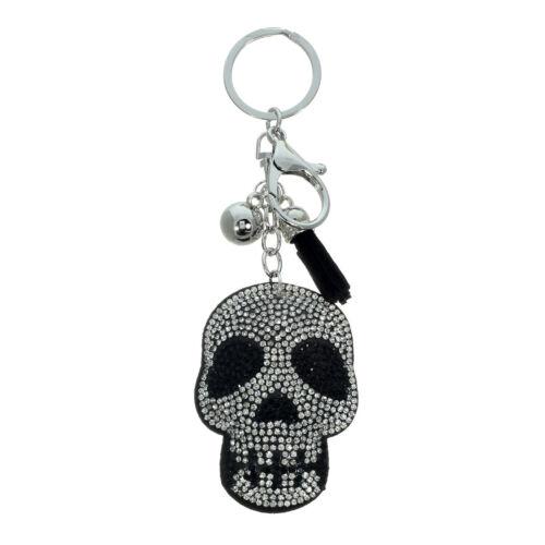 Skull Rhinestone Ornament Key Chain Handbag Charm Accessory