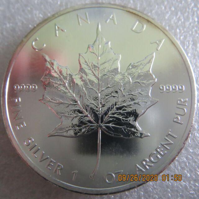 2013 1 oz Silver Canadian Maple Leaf - 25th Anniversary