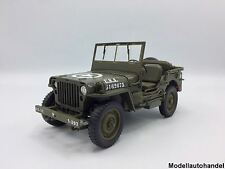 Willys Jeep matt-oliv U.S. Army offen  1:18 Welly