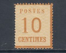 France Sc N12 MLH. 10c Official Imitation, Network points down