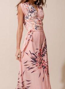 Yumi Kim Sz L 215 Wrap Swept Away Maxi D Dress Floral New