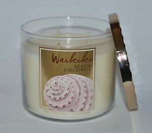 Details About New Bath Body Works Waikiki Beach Coconut Scented Candle 3 Wick 14 5 Oz Large