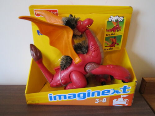 Fisher Price Imaginext Fuzzy Dragon New Box wings makes noise castle stomping