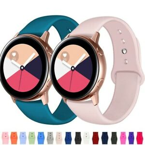 For Samsung Galaxy Watch 3 41mm/Active2 40/44mm Silicone Sport Wrist Band Strap