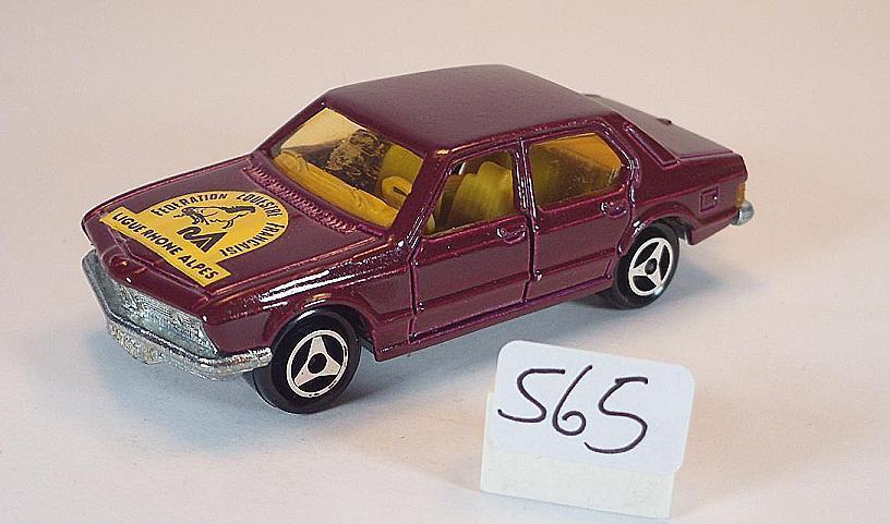 Majorette 1 60 Nr. 256 BMW 733 Limousine redmetallic Ligue Ligue Ligue Rhone Alpes Nr.3 4a1ef9