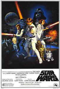 Star-Wars-A-New-Hope-1977-Style-B-Reprint-One-Sheet-Movie-Poster-27x40-034