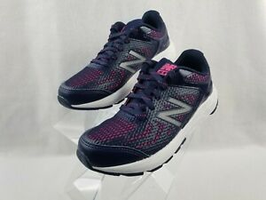 New-Balance-Shoes-Little-Kids-Girls-Size-1-X-Wide-Navy-Pink-Sneakers-KJ519PGY